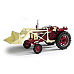 1 - 16-Scale International 504 Wide With Loader And Chains Diecast FARMALL Tractor