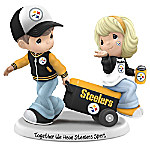 Precious Moments Together We Have Pittsburgh Steelers Spirit Handcrafted NFL Figurine