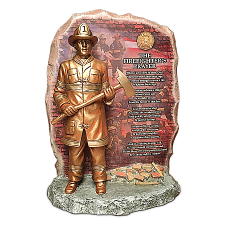 Glen Green The Firefighter's Prayer Tribute Sculpture