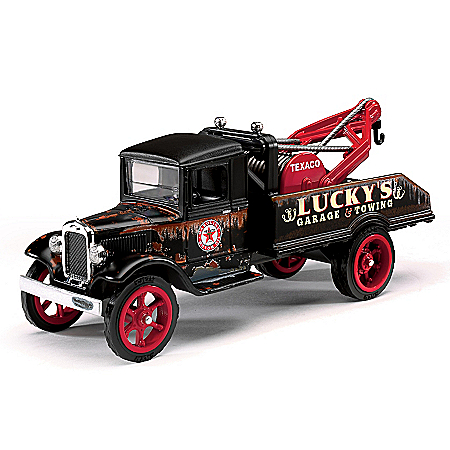 1:34-Scale Texaco 1931 Hawkeye Diecast Tow Truck And Bank
