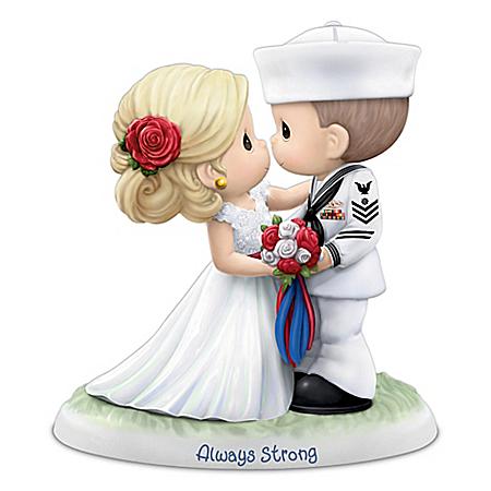 Precious Moments Porcelain U.S. Navy Wedding Figurine
