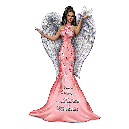 Keith Mallett Breast Cancer Awareness Angel Figurine