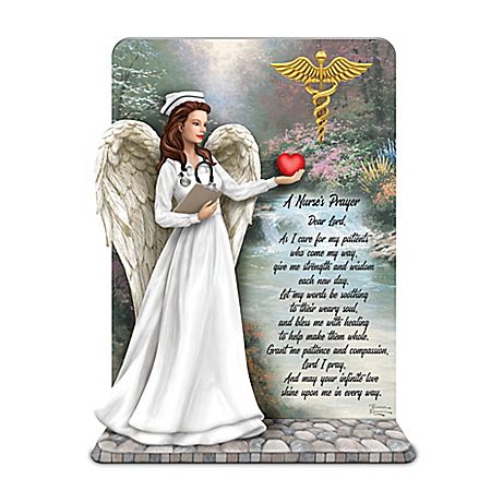 Thomas Kinkade The Nurse's Prayer Sculpture