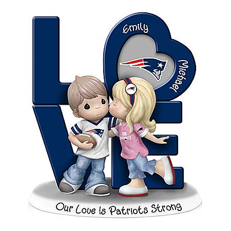 Precious Moments Personalized Hand-Painted NFL Figurine