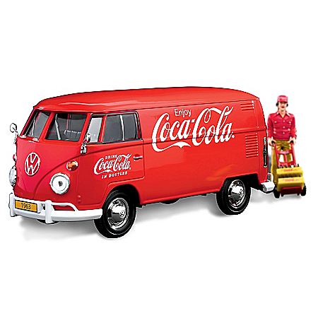 COCA-COLA 1963 VW Type 2 (T1) Diecast Cargo Van And Accessory Set
