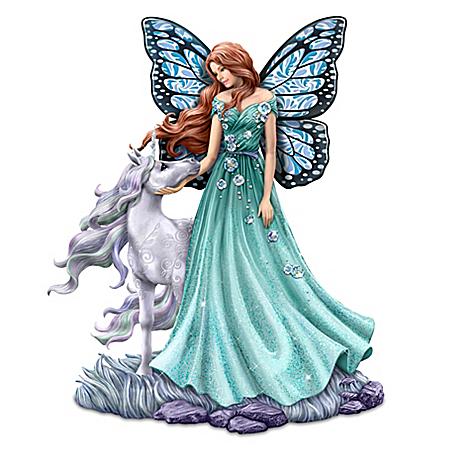 Jody Bergsma Loving Radiance Hand-Painted Fairy & Unicorn Figurine