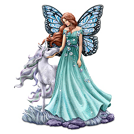 Jody Bergsma Loving Radiance Hand-Painted Fairy & Unicorn Figurine