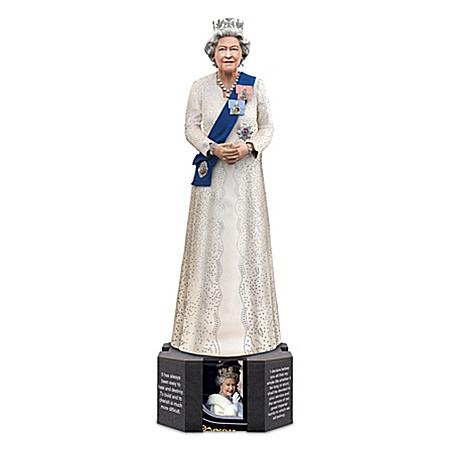 Queen Elizabeth II Figurine With Swarovski Crystals