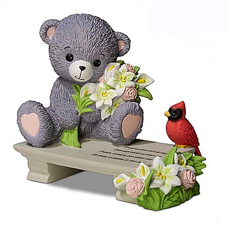 A Love So Dear Hand-Painted Faithful Fuzzies Teddy Bear Figurine