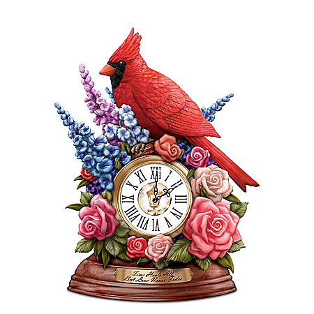 Thomas Kinkade Remembrance Cardinal Table Clock