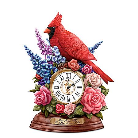 Thomas Kinkade Remembrance Cardinal Table Clock
