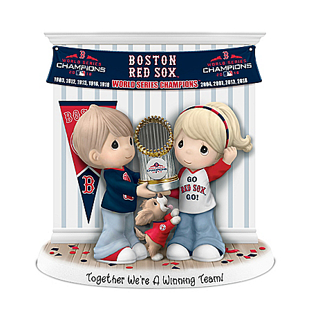 Precious Moments Together We're A Winning Team Boston Red Sox MLB Figurine