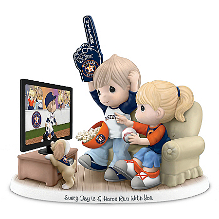 Precious Moments Houston Astros Fan Porcelain Figurine