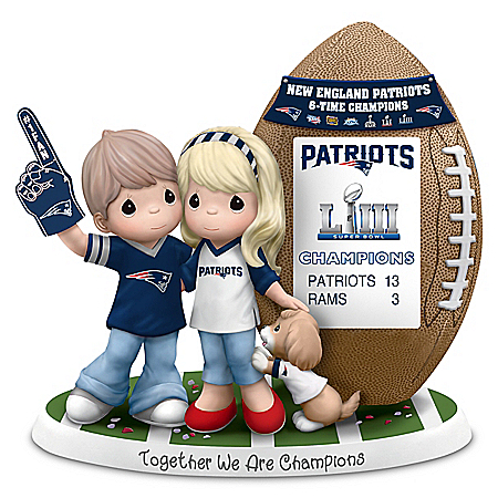 Super Bowl LIII Champions Patriots Couple Figurine