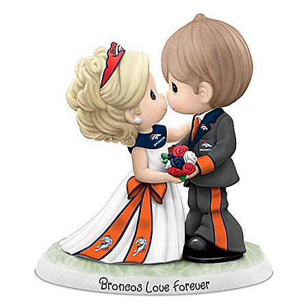 Precious Moments Denver Broncos Love Forever NFL Figurine