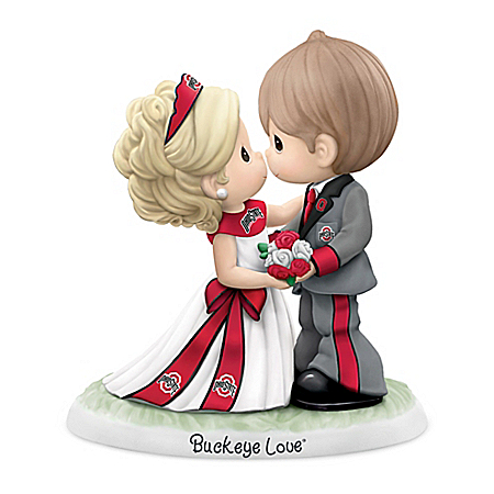 Precious Moments Buckeyes Love Forever Porcelain Figurine