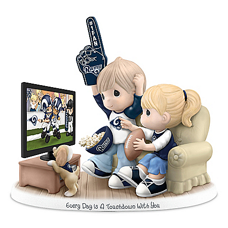 Precious Moments Every Day Is A Touchdown With You Los Angeles Rams Figurine
