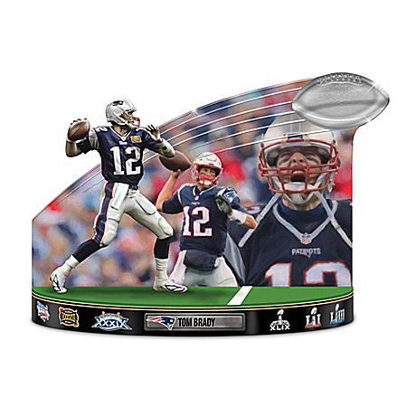 Caught In The Action Tom Brady NFL Tribute Sculpture