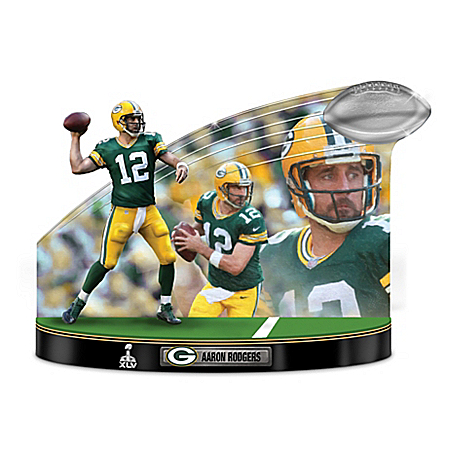 Caught In The Action Aaron Rodgers NFL Tribute Sculpture