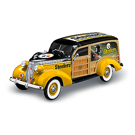 Pittsburgh Steelers 1937 Woody Wagon Sculpture