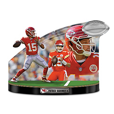 Caught In The Action Patrick Mahomes II Tribute Sculpture