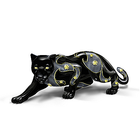 Keith Mallett Power Of The Citrine Black Panther Figurine