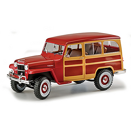 1:18-Scale 1955 Willys Jeep Diecast Station Wagon