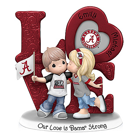 Precious Moments Our Love Is Bama Strong Personalized Figurine