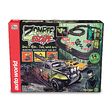 Zombie Escape Slot Car Race Set