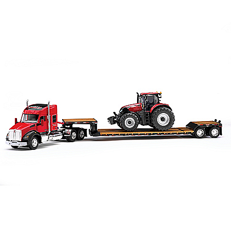 Case IH Kenworth T880 Diecast Semi With Tractor And Trailer