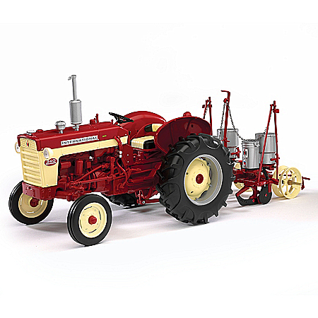 1:16-Scale International 340 Diecast Tractor And 251 Planter
