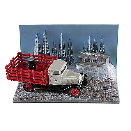 1:43-Scale 10-Piece Texaco 1930 Chevrolet Diecast Truck & Diorama Set