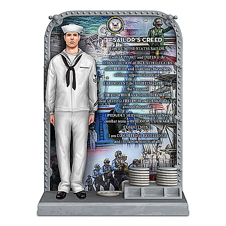 The Sailor's Creed U.S. Navy Tribute Sculpture