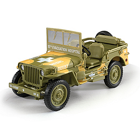 1:18-Scale 1941 Willys Diecast WWII Military Medic Jeep