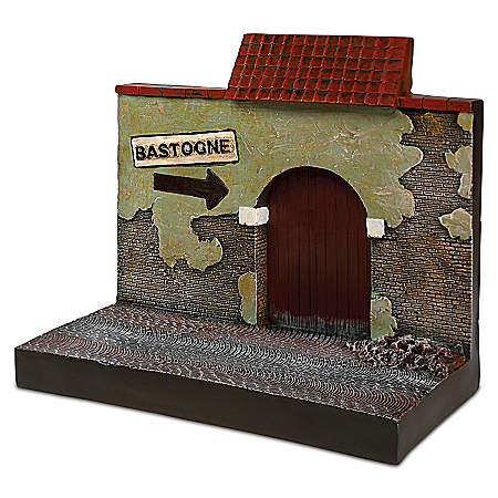 WWII 1:18-Scale Bastogne Building Display Sculpture