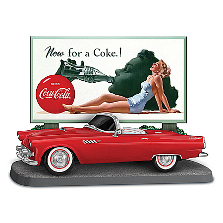 Now For A COKE! Sculpture With '50s-Style Ford Thunderbird