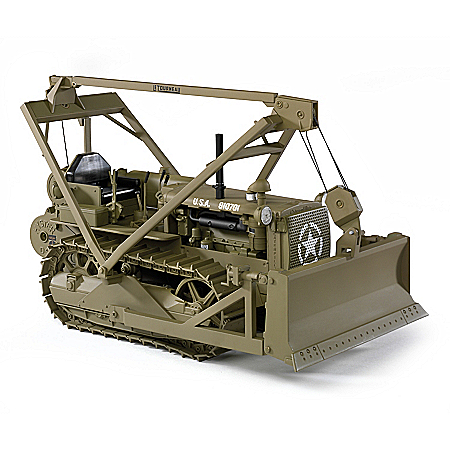 1:16-Scale Caterpillar D4 Diecast Bulldozer Tribute To WWII