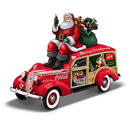 1:18-Scale COCA-COLA Christmas Woody Wagon Sculpture