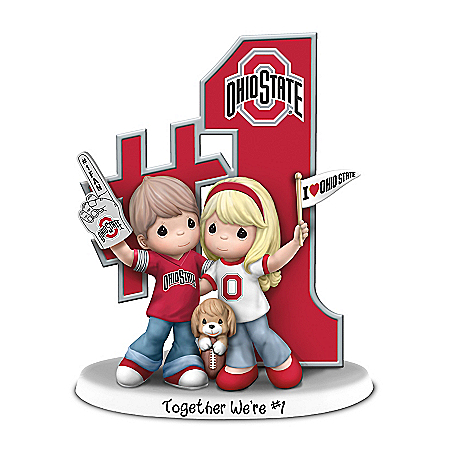 Precious Moments Romantic Buckeyes Football Figurine