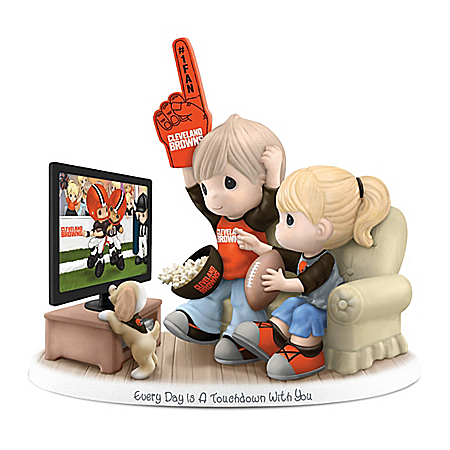 Precious Moments Cleveland Browns Porcelain Figurine