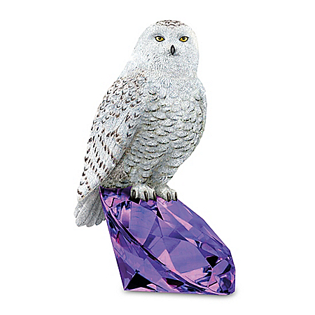 Protector Of Amethyst Gemstone-Inspired Owl Figurine
