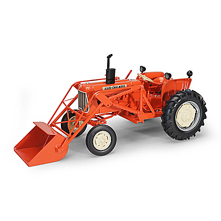 1:16-Scale Allis-Chalmers Diecast Tractor With Front Loader