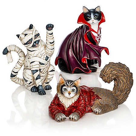 Blake Jensen Furr-ightfully Fun Halloween Cat Figurine Set