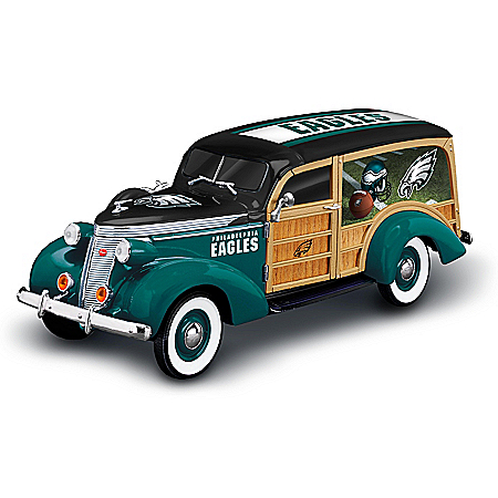 Philadelphia Eagles 1937 Woody Wagon Sculpture