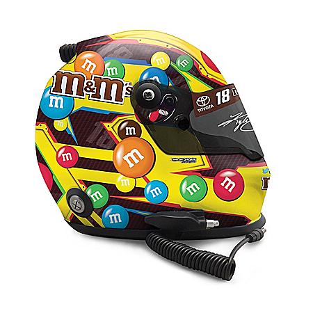 Autographed Kyle Busch #18 2019 M&M's Classic Replica Helmet