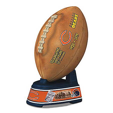 The Chicago Bears 100th Anniversary Football Sculpture
