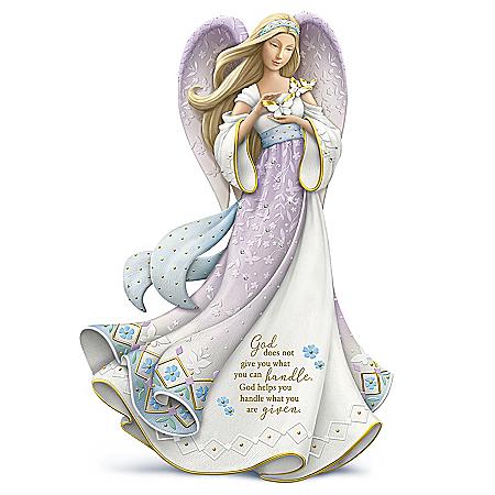 Karen Hahn Angel Figurine Adorned With Swarovski Crystals