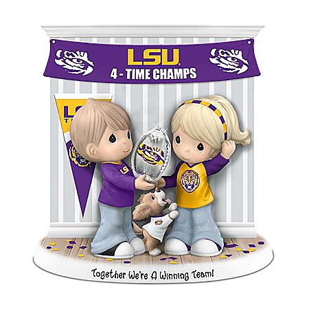 LSU Tigers Precious Moments Porcelain Figurine