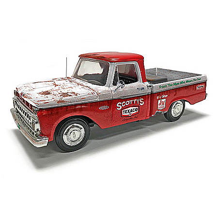 1:25-Scale Texaco 1966 Ford F100 Diecast Truck