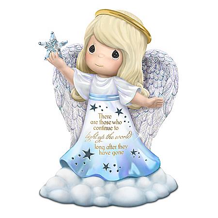 Precious Moments Illuminated Remembrance Angel Figurine